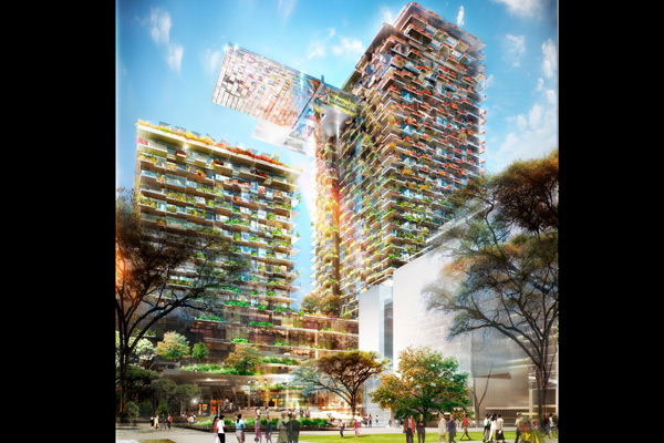 Artist's impressions of the One Central Park development in Chippendale.