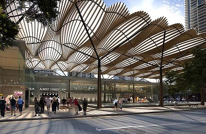 A conceptual image of the Albert Street station.