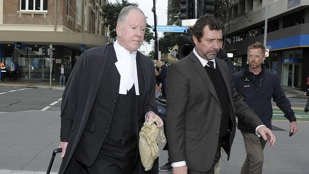 Gerard Baden-Clay's defence team Michael Byrne, QC, and Peter Shields (right).