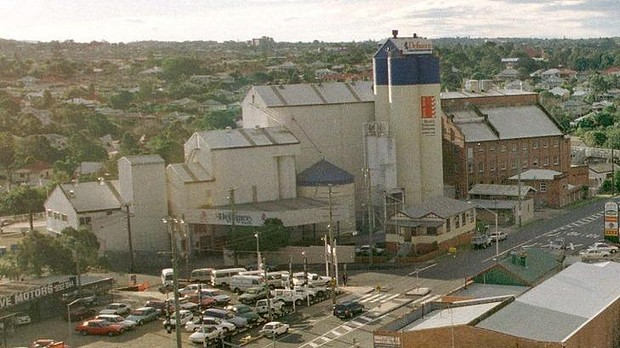 The former Defiance flour mill at Albion
