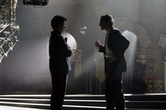 Rob Marshall and Daniel Day Lewis on the set of NINE.