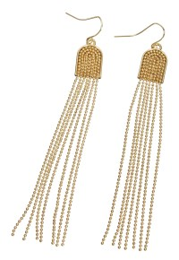 Pieces Denize earrings Gold Colour - Bubbleroom