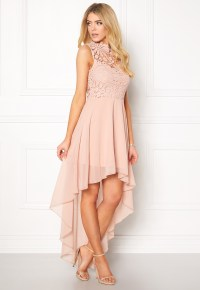 Girl In Mind Midi Lace Dress Pink - Bubbleroom