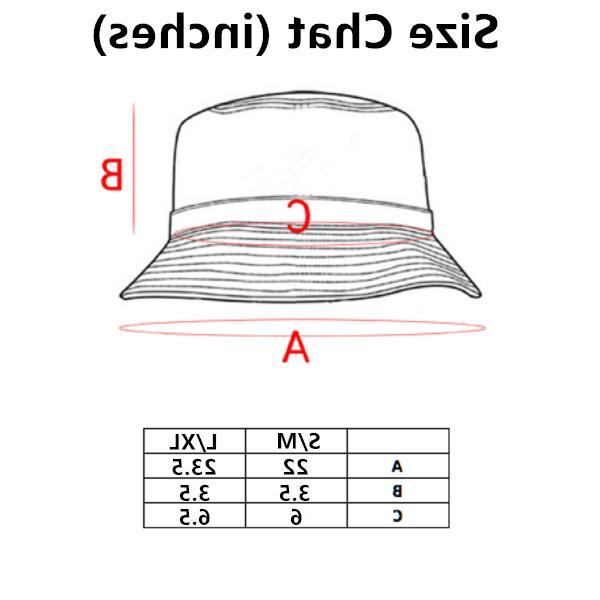 Mens Womens Bucket Hat Cap Fishing Boonie Brim