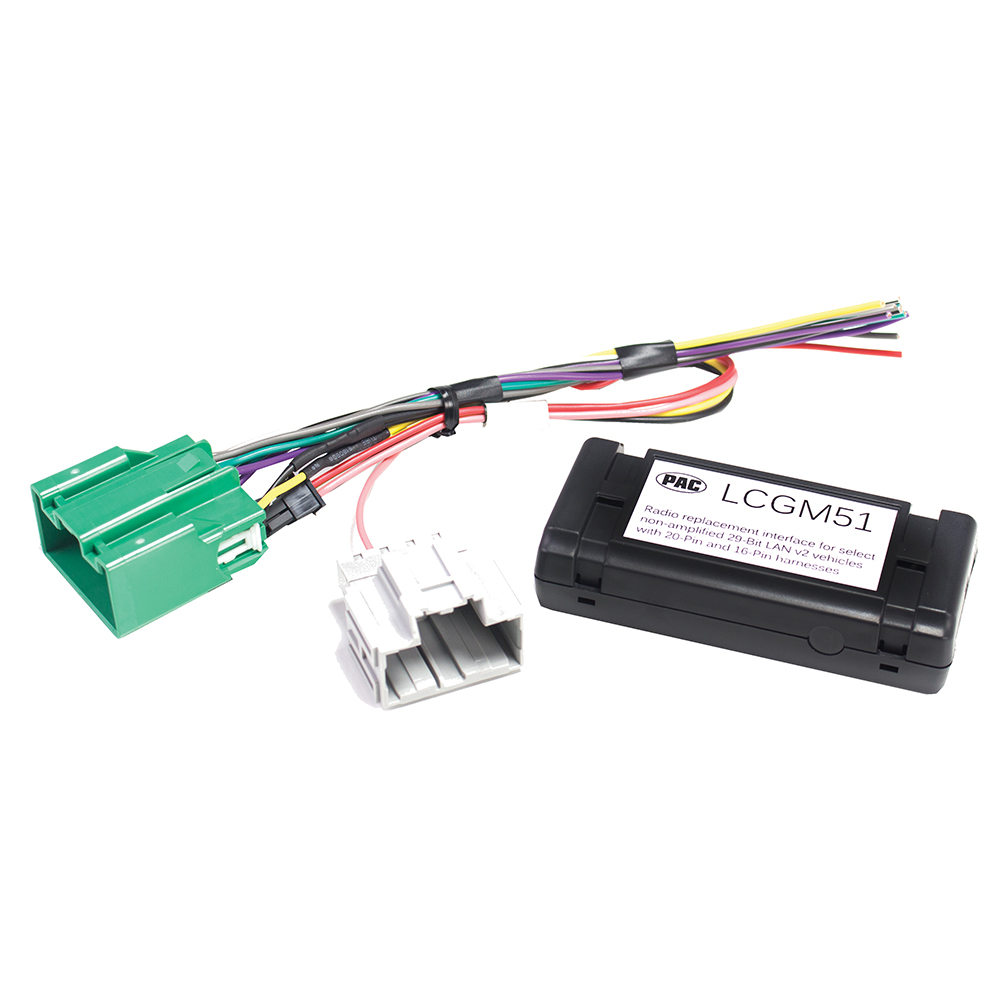 hight resolution of pac radio replacement interface for non amplified 29 bit gm lan v2 vehicles with