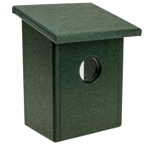 19.16 Recycled Plastic Window Nest View Bird House