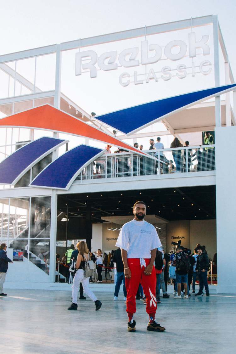 Kerby Jean-Raymond traveled to Dubai to represent Reebok at a streetwear festival there in 2018 | Source: Courtesy