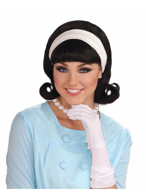 1950s wig withdetachable headband
