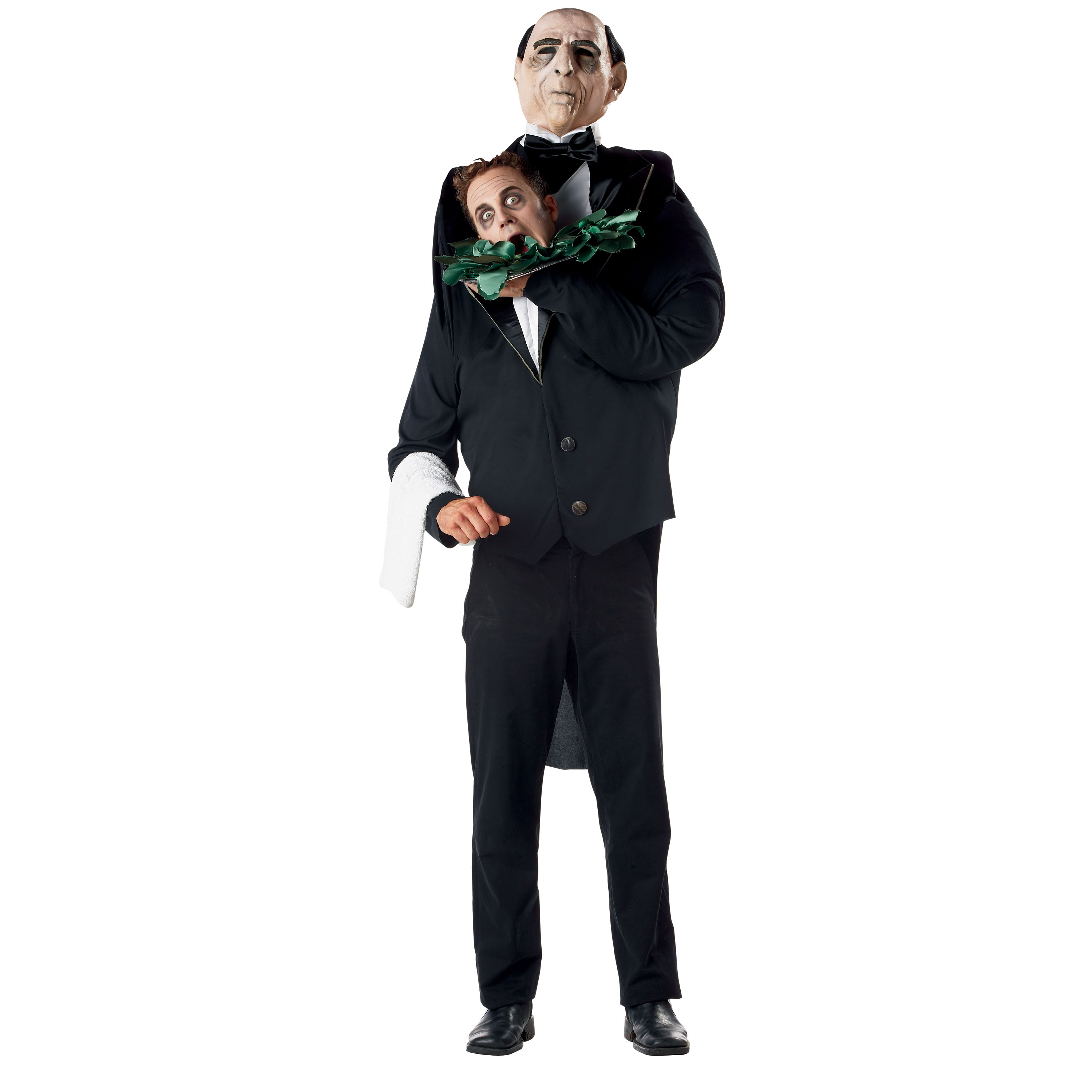 Haunted Hotel-head Holders-butler Adult Costume