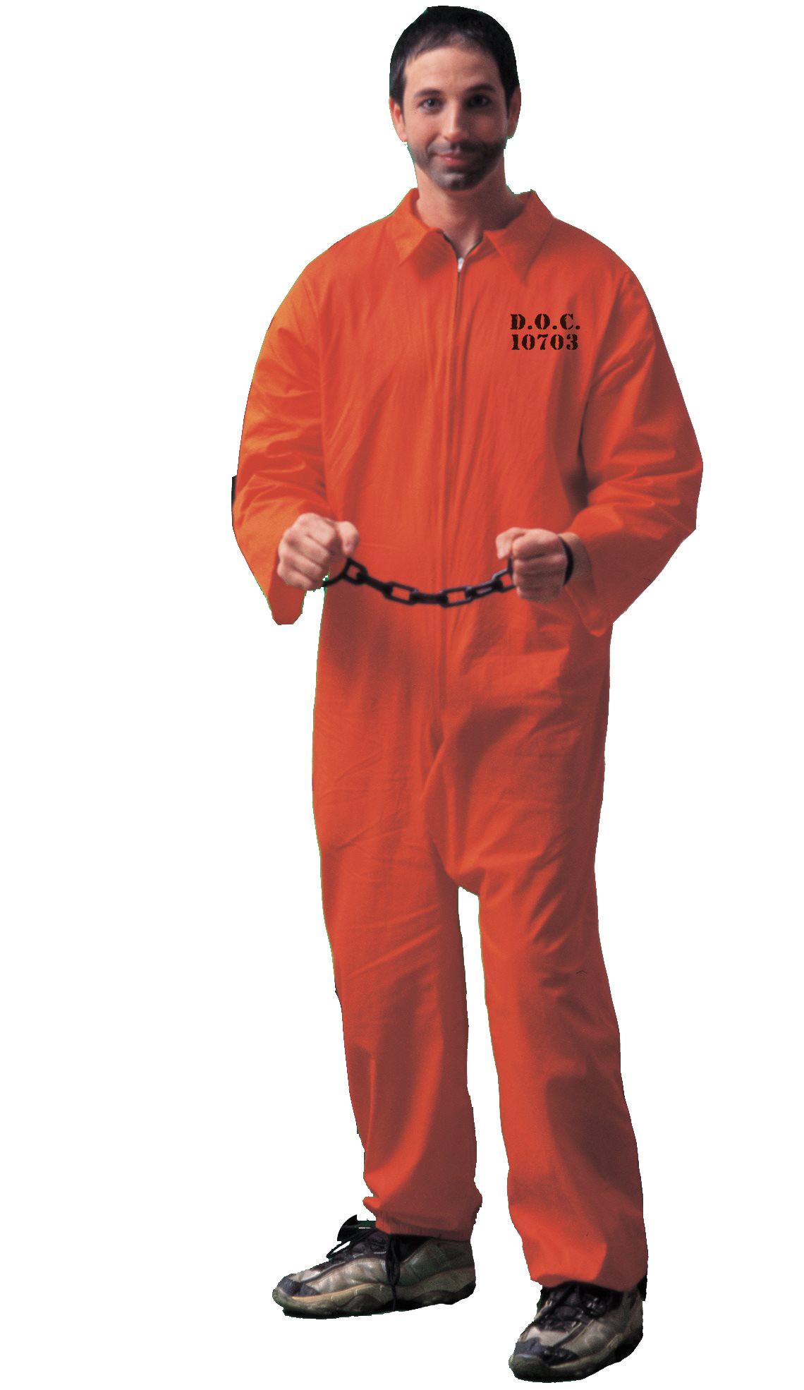 Orange Convict Costume Men Women