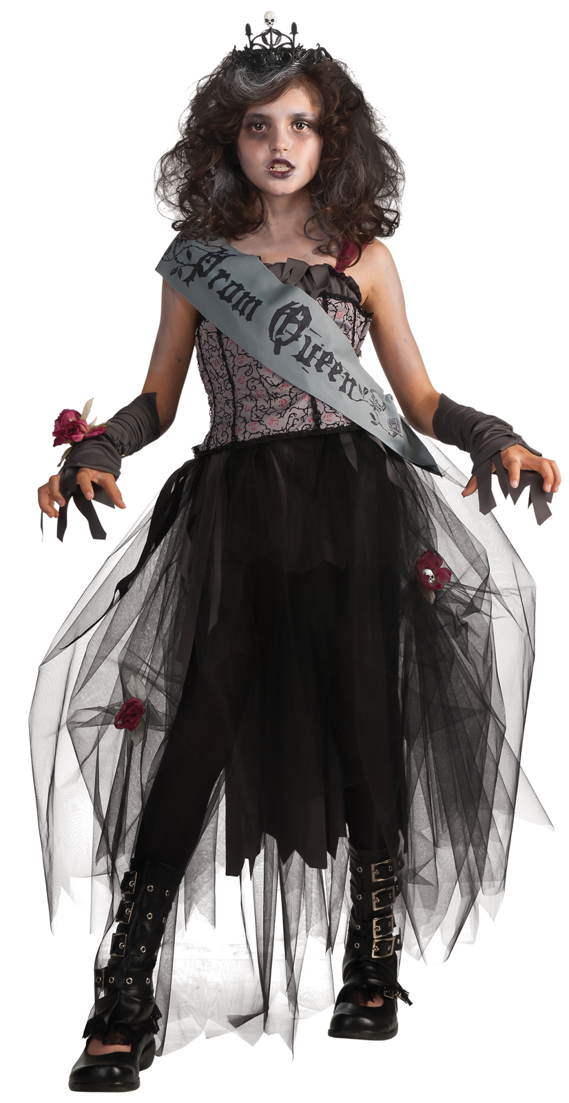 Dark Cozy Girl City Wallpaper Goth Prom Queen Child Costume Buycostumes Com
