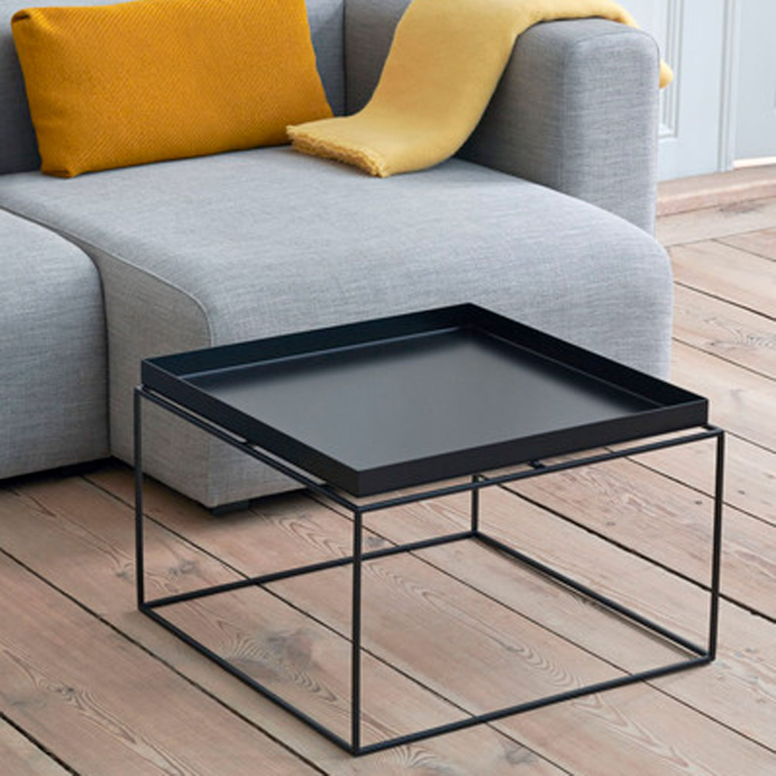 tray table coffee table hay