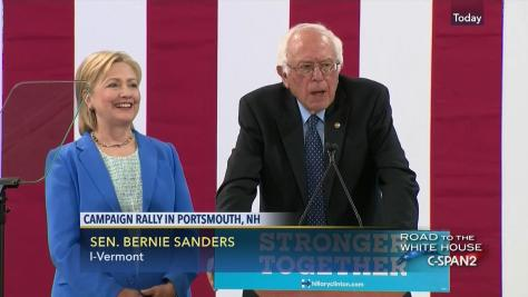 Image result for sanders/hillary