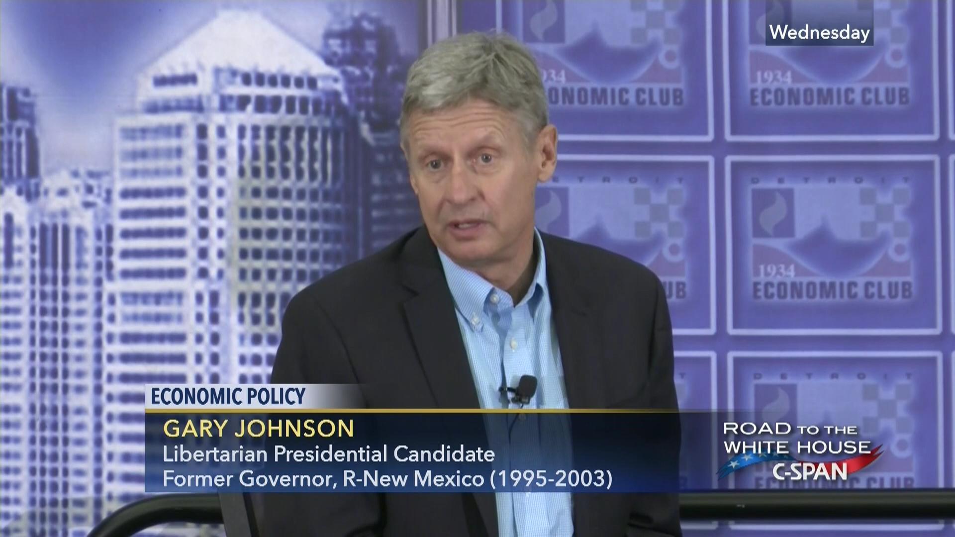 gary johnson remarks at