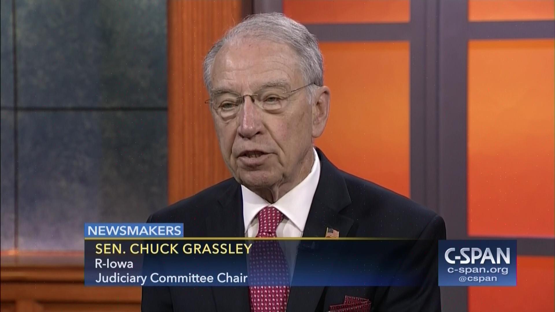 Newsmakers Senator Chuck Grassley May 11 2017 C SPAN Org