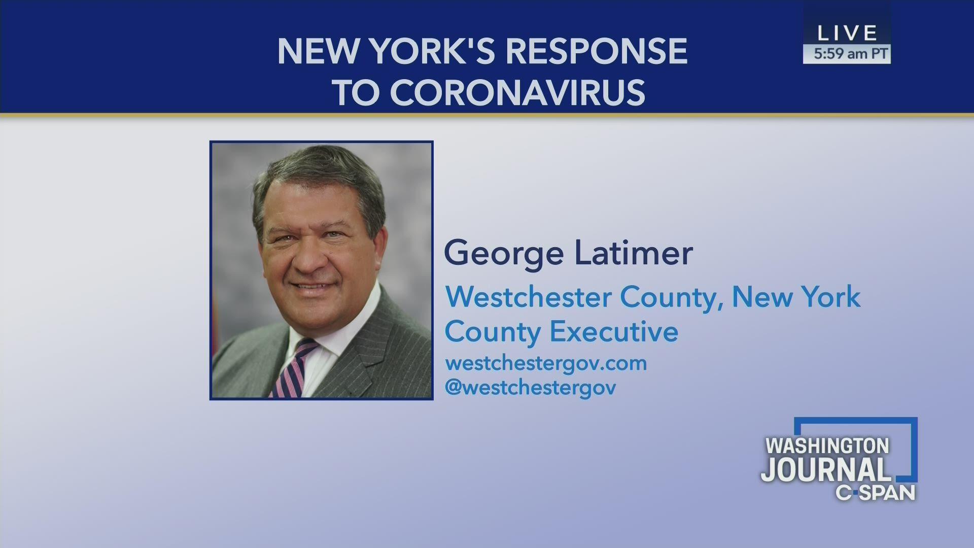 George Latimer on New York Coronavirus Response Efforts   C-SPAN.org