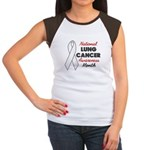 Lung Cancer Awareness Women's Cap Sleeve T-Shirt
