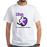 iRun for Pancreatic Cancer Awareness White T-Shirt