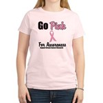 Go Pink For Awareness Women's Light T-Shirt