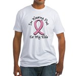 Pink Ribbon Wife Fitted T-Shirt