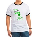 Gone Green Funny Ringer T