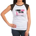 I Wear Pink (Best Friend) Women's Cap Sleeve T-Shi
