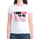 I Wear Pink (Aunt) Jr. Ringer T-Shirt