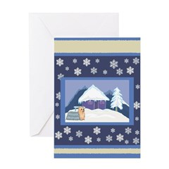 Snowflake Yorkie Holiday Gifts & Cards