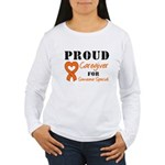 Caregiver Orange Ribbon Women's Long Sleeve T-Shir