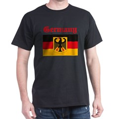 German Flag Black T-Shirt