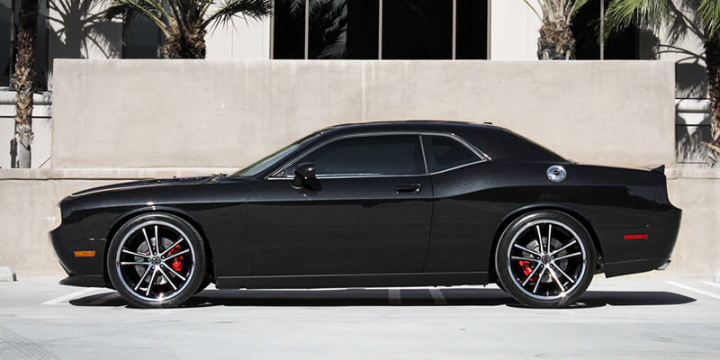 Dodge Challenger Black Chrome Wheels