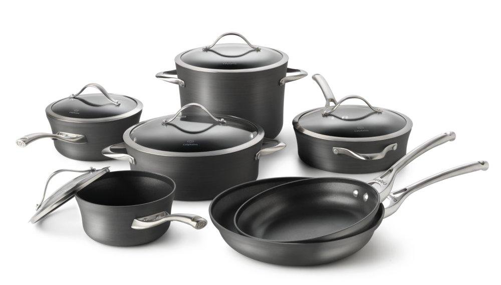 kitchen essentials from calphalon metal rack contemporary nonstick 12-pc. cookware set ...