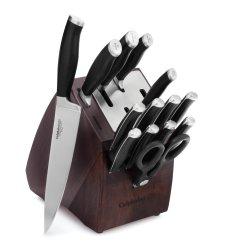Self Sharpening Kitchen Knives Fluorescent Light Fixture Calphalon Contemporary Sharpin 15 Pc Cutlery Set