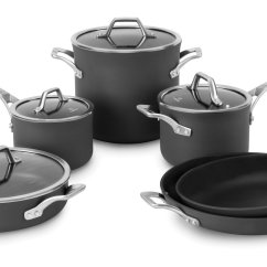 Calphalon Kitchen Essentials Stainless Steel Washable Rugs Non Skid Cookware Sets Pots And Pans