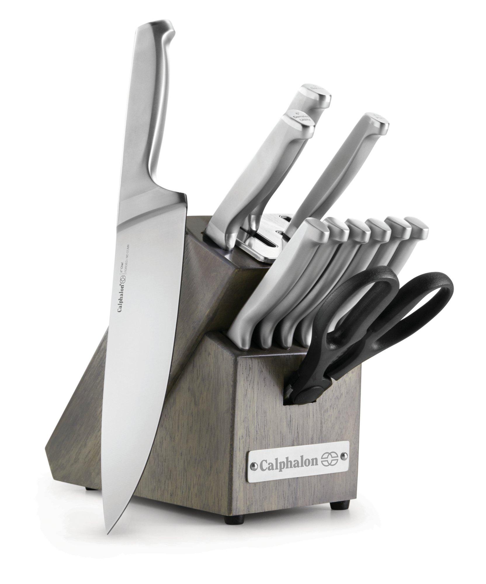 self sharpening kitchen knives homedepot cabinets knife sets calphalonusastore