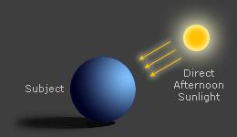 diagram: harsh overhead sunlight portrait