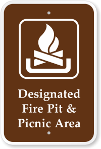 Campfire Signs for Campgrounds