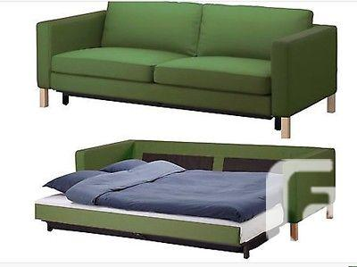 karlstad 3 seat sofa bed cover sofas etc virginia beach ikea sivik green 502 273 03 new for 230