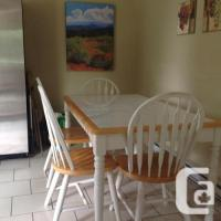 Tile Topped Wooden Kitchen Table and 4 Chairs. for sale in ...