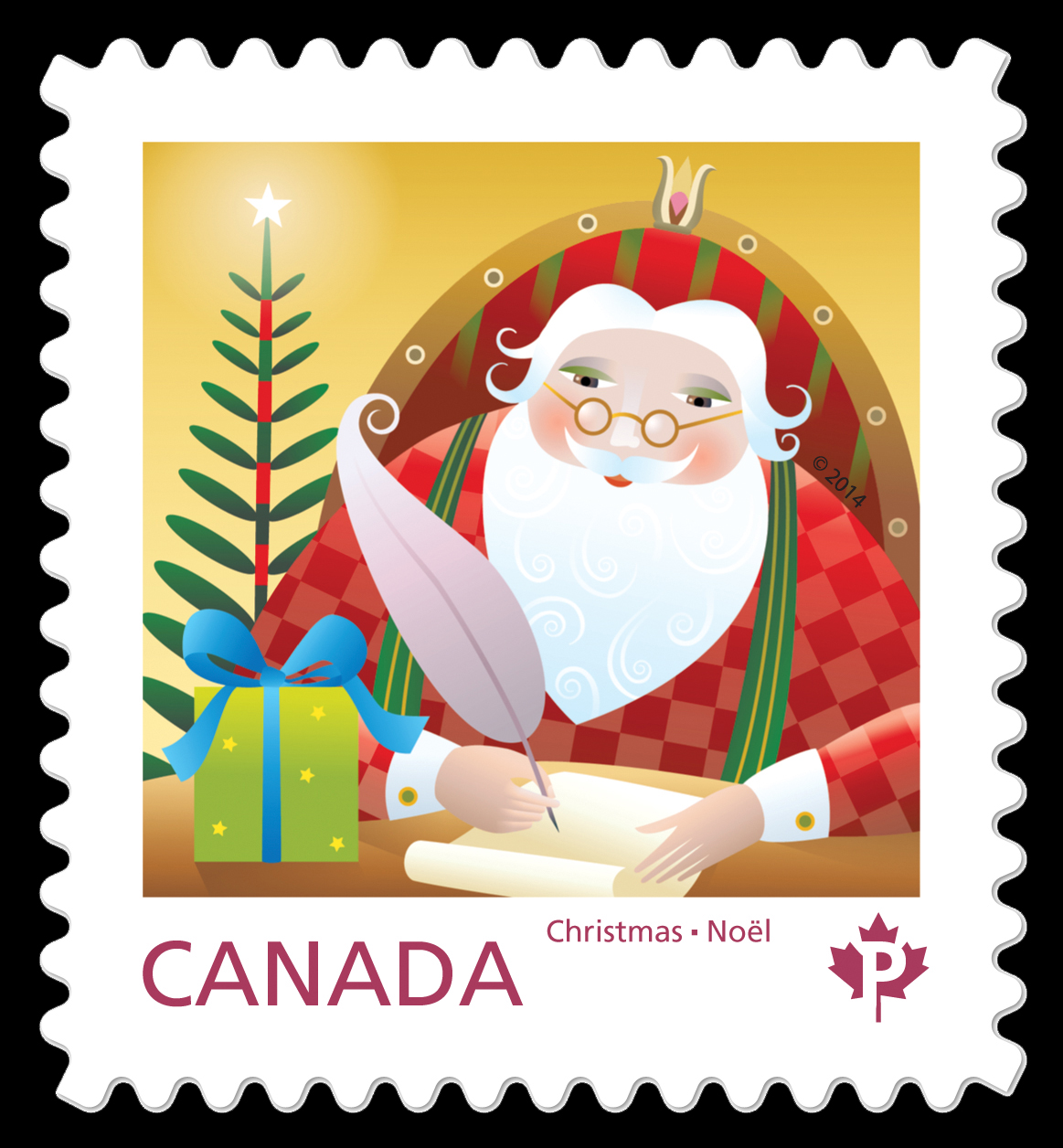 Santa with His Sack  Postage Stamp  Canada
