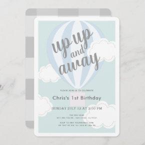 hot air balloon birthday invitations