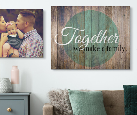 family sayings canvas on