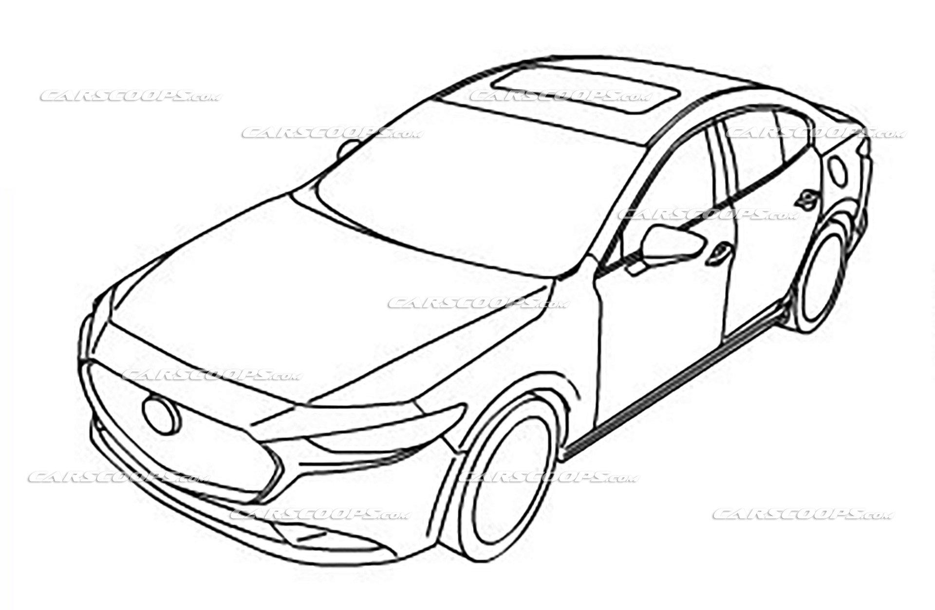 Nouvelle Mazda 3 : première idée du design définitif