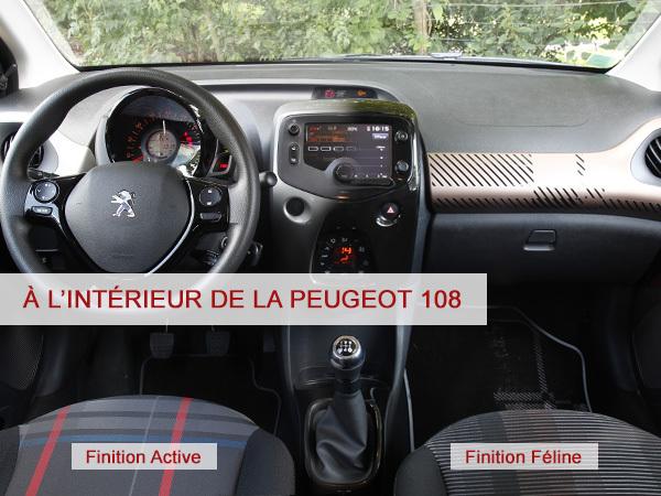 A lintrieur de la Peugeot 108
