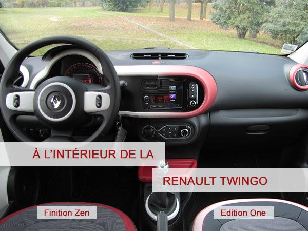 A lintrieur de la Renault Twingo
