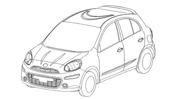 Future Nissan Micra : les dessins techniques officiels