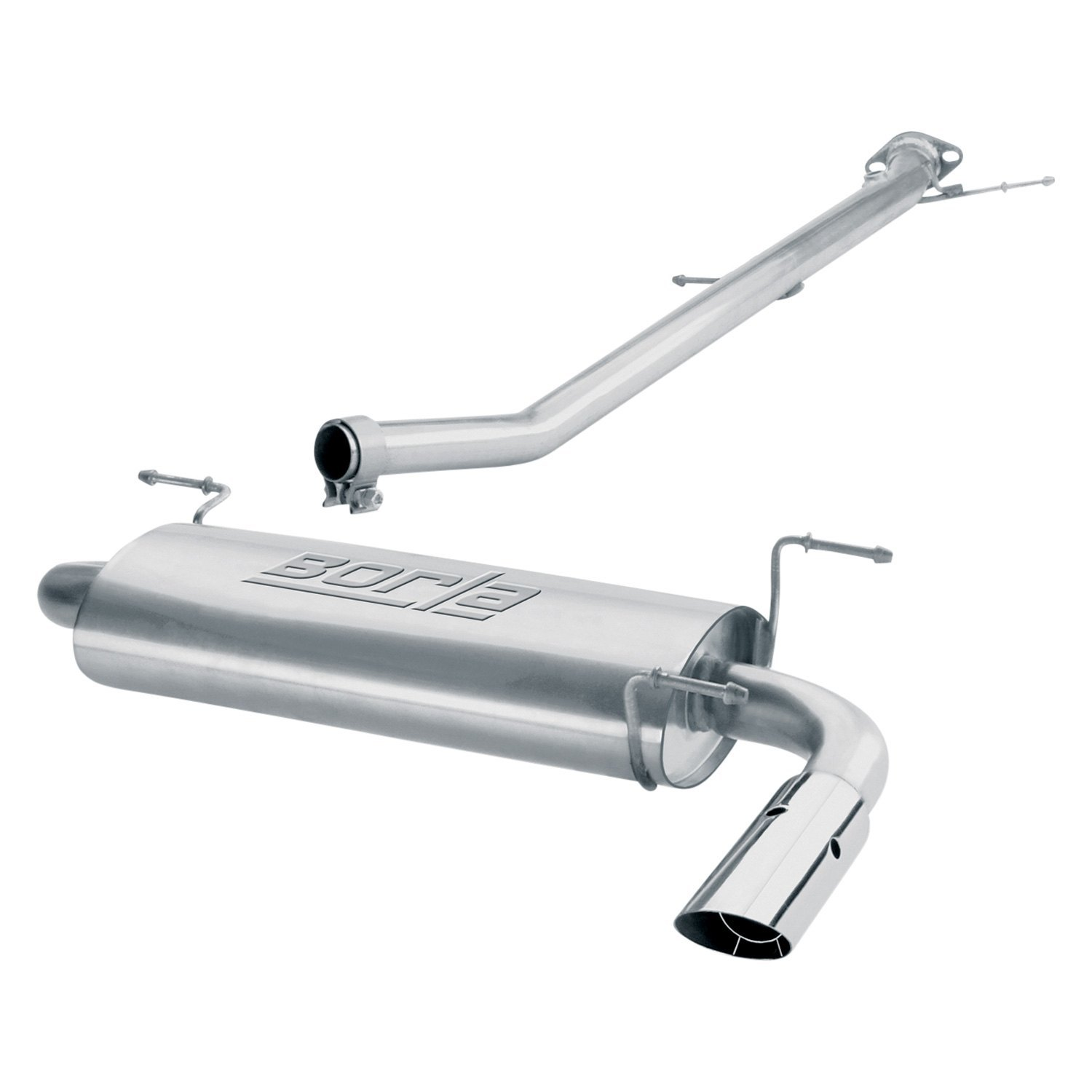 borla s type stainless steel cat back exhaust system with single rear exit