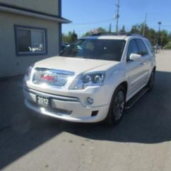 Gmc Acadia With Captains Chairs Flight Sim Chair Used 2012 Loaded Denali Edition 7 Passenger 3