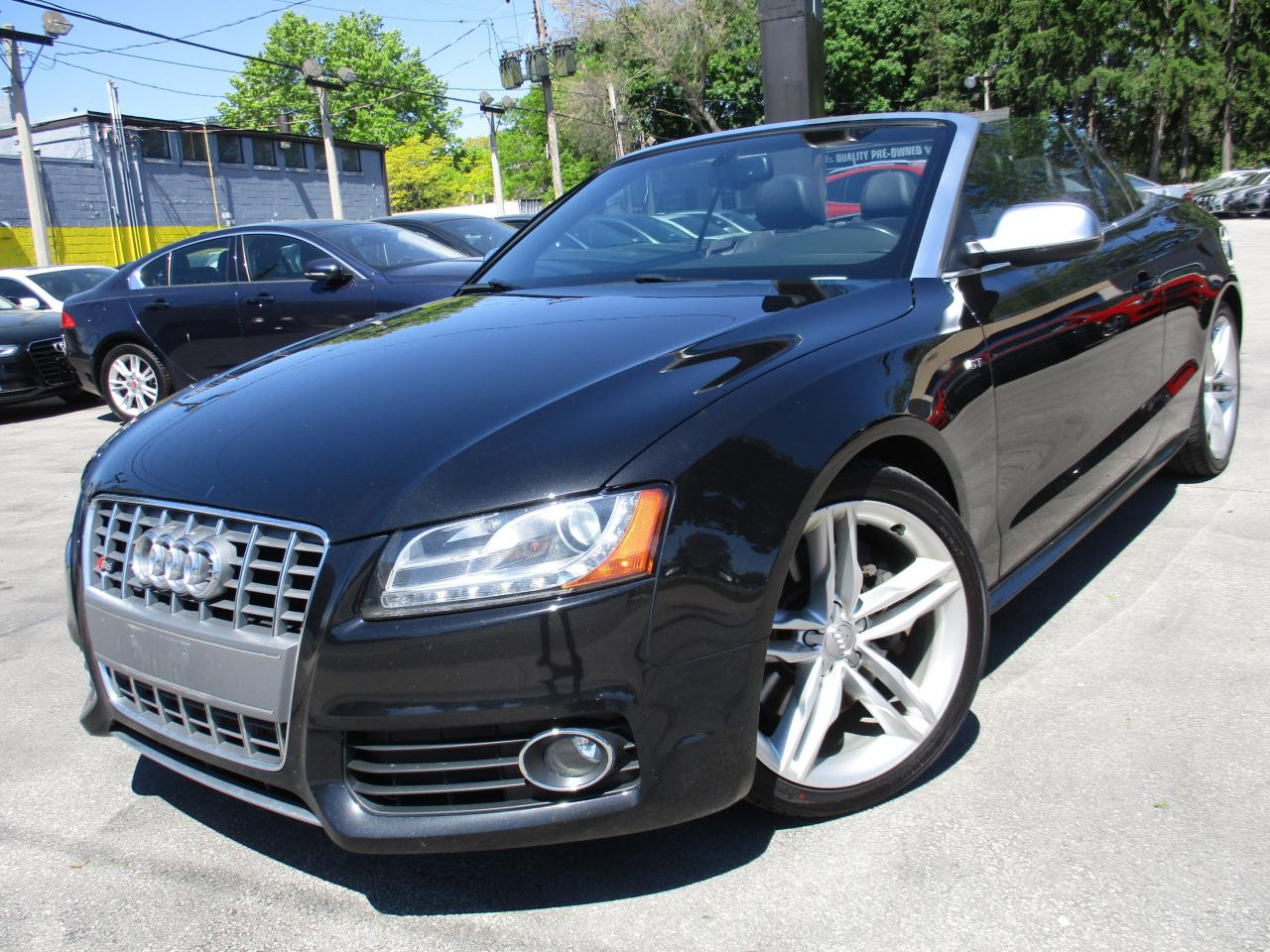 medium resolution of used 2010 audi s5 s5 convertible navi 111kms black on black for sale in burlington ontario carpages ca