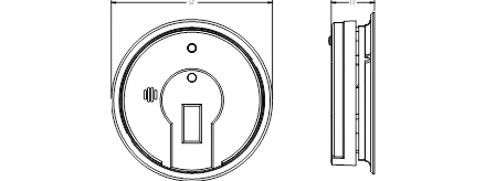 Kidde i12080 AC Hardwired Interconnect Smoke Alarm with